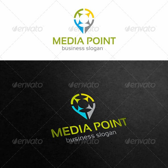 Media Point Logo Template