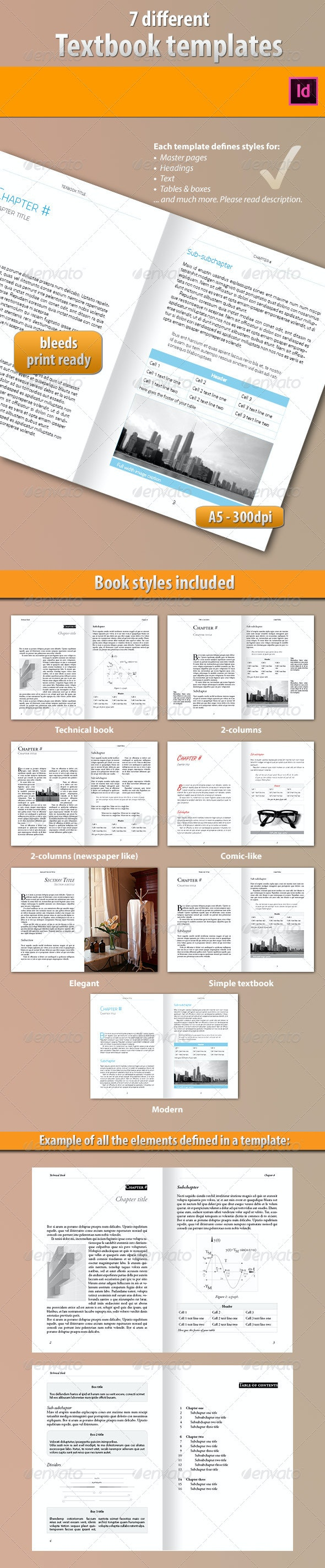 7 Ebook Templates - Miscellaneous Print Templates
