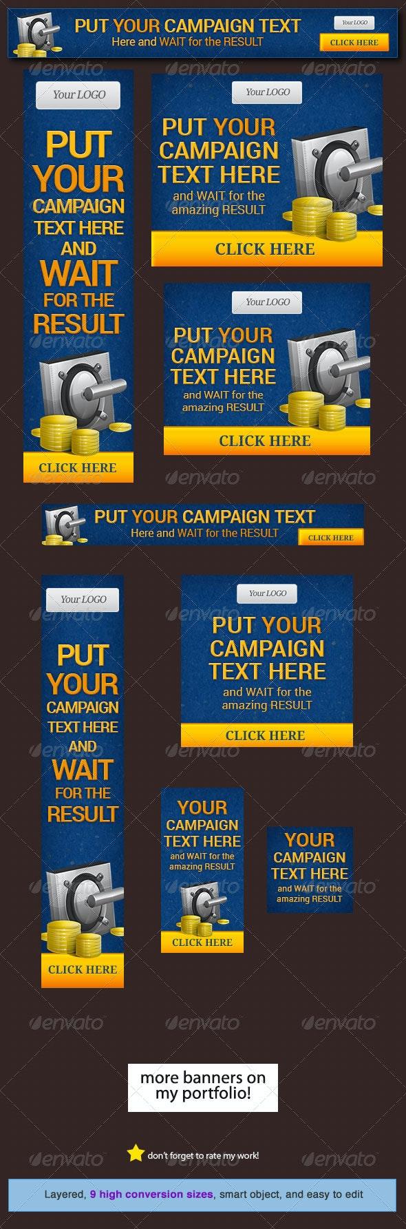 Money Maker Web Banner Design Template - Banners & Ads Web Elements