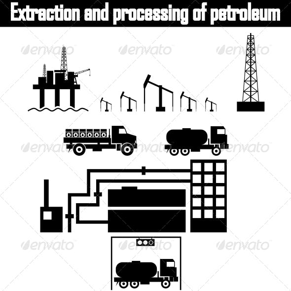 Oil Production Equipment Vector