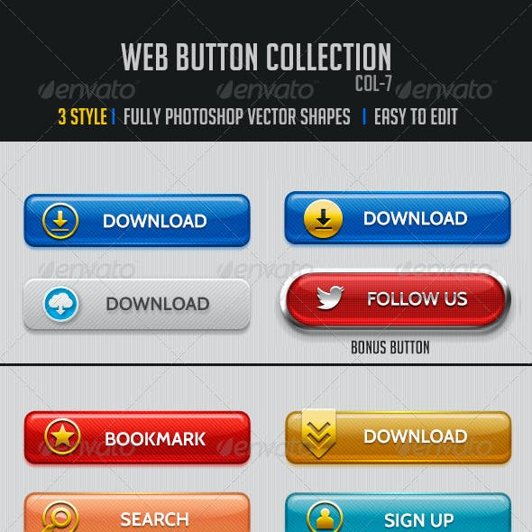 Web Buttons Col-7