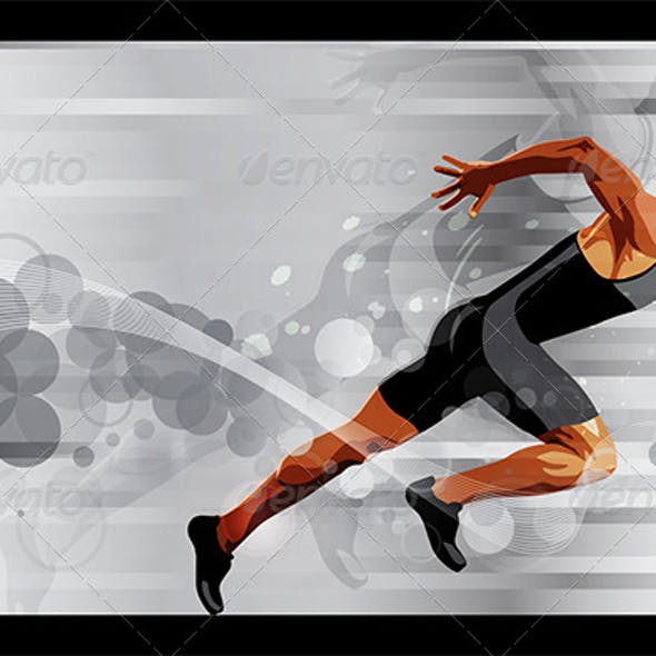Runner Sprinter Vector Illustration