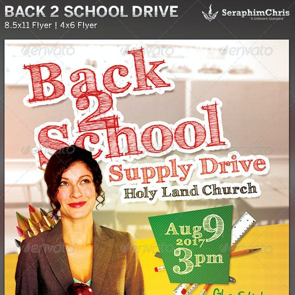 Back to School Drive: Church Flyer Template