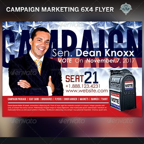 Political Campaign Marketing Flyer Template