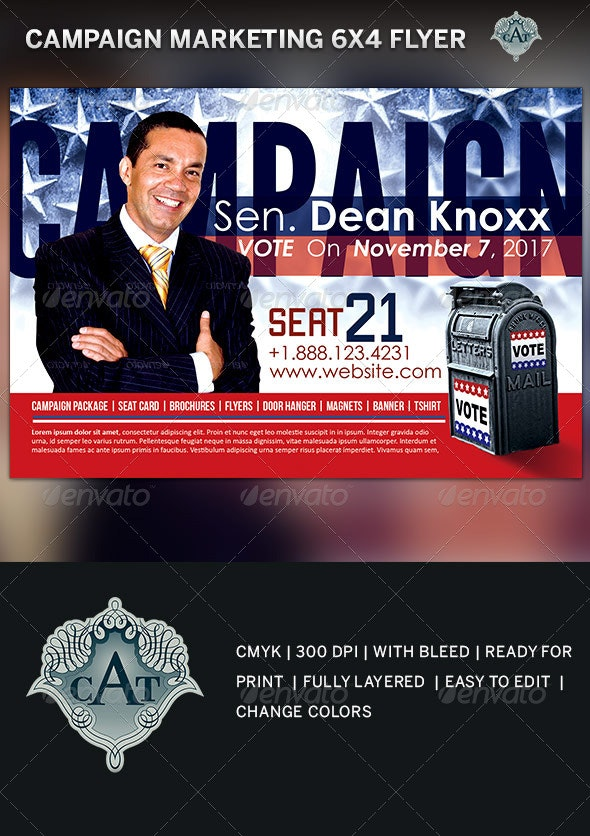 Political Campaign Marketing Flyer Template - Corporate Flyers