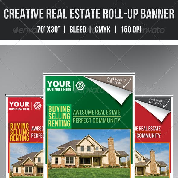 Download Creative Real Estate Roll-Up Banner