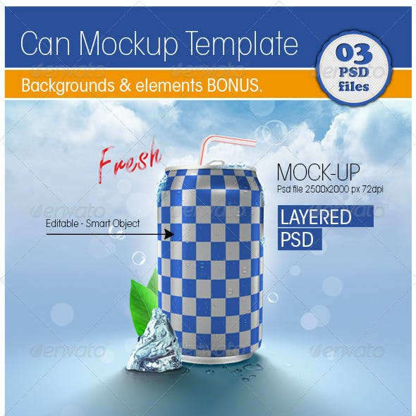 Can Mockup Template