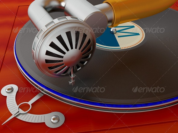 Gramophone - Backgrounds Graphics