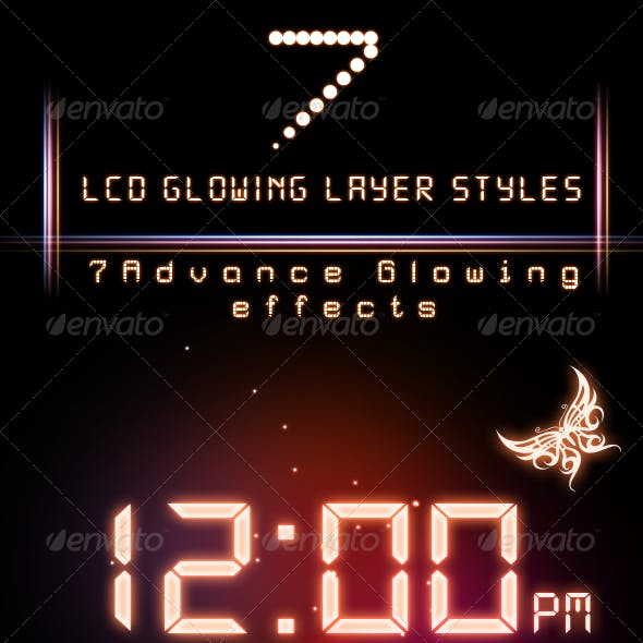 LCD Glowing Layer Styles