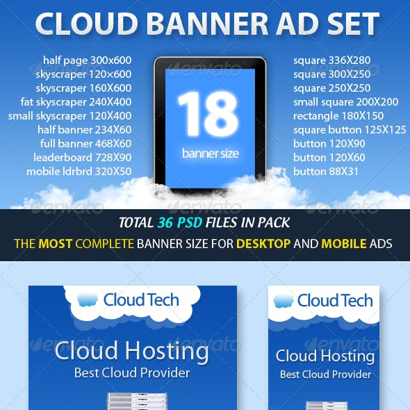Cloud Banner ad Set