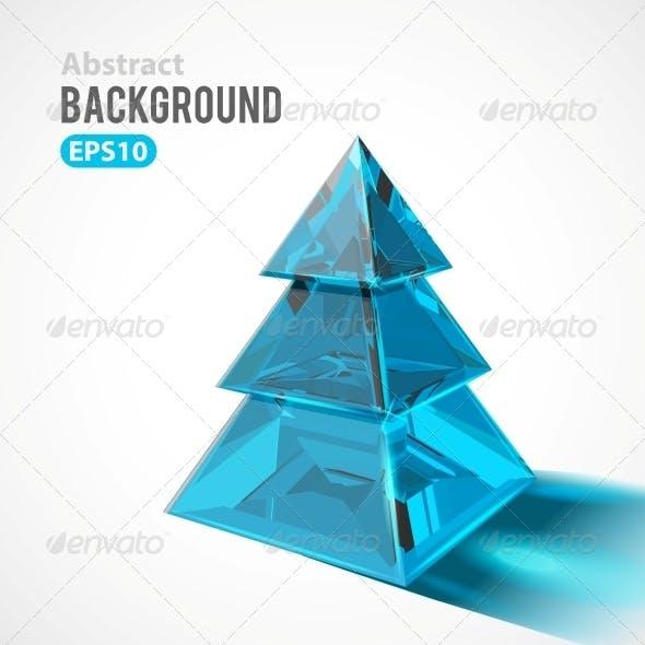 Christmas Tree made of Ice or Glass