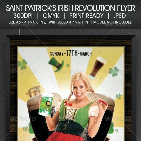 Saint Patrick's Irish Revolution Flyer