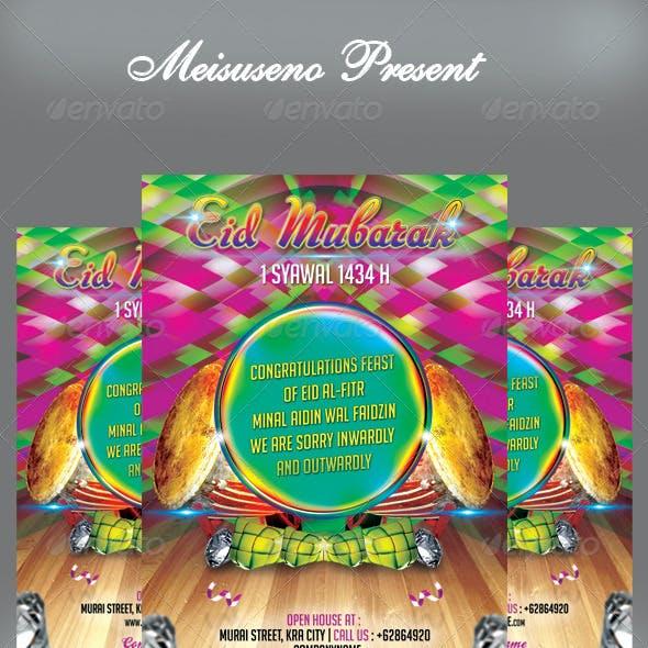 Eid Mubarak Flyer/Greeting Card