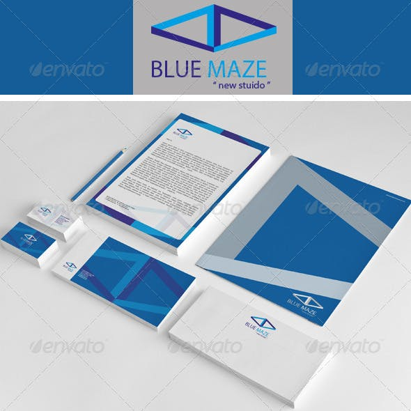 Blue Maze Corporate Identity Package