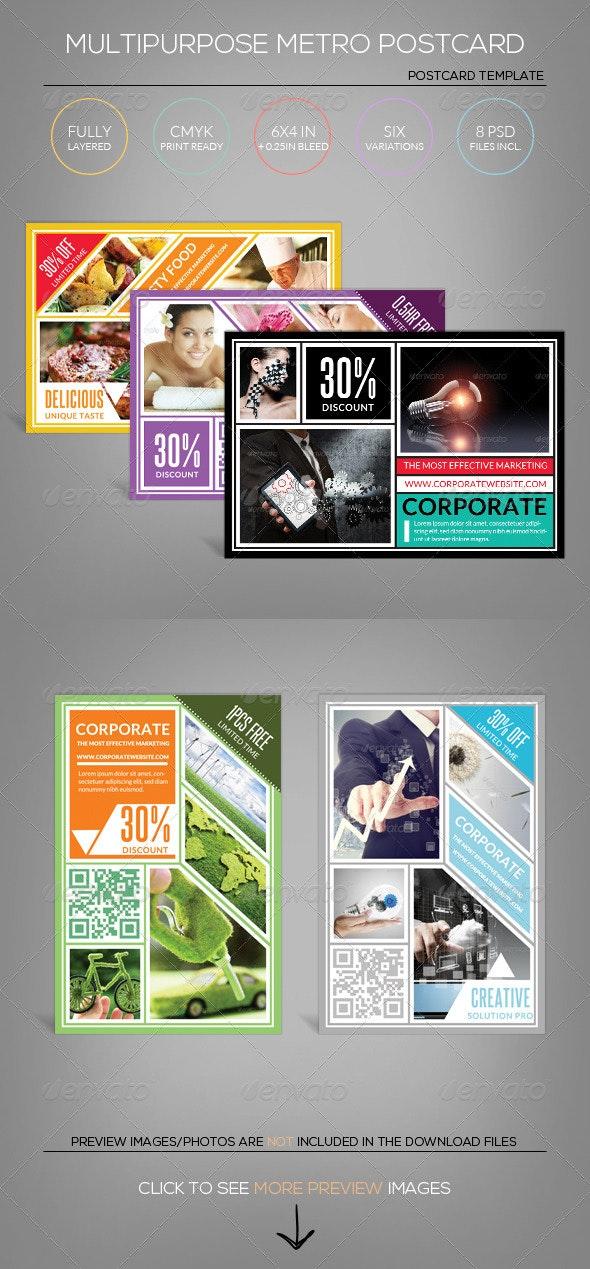 Multipurpose Metro Postcard Template - Corporate Flyers