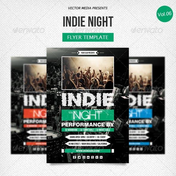 Indie Night - Flyer [Vol.6]