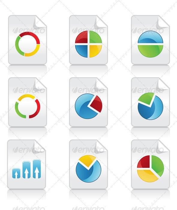 Icons of schedules3 - Web Elements Vectors