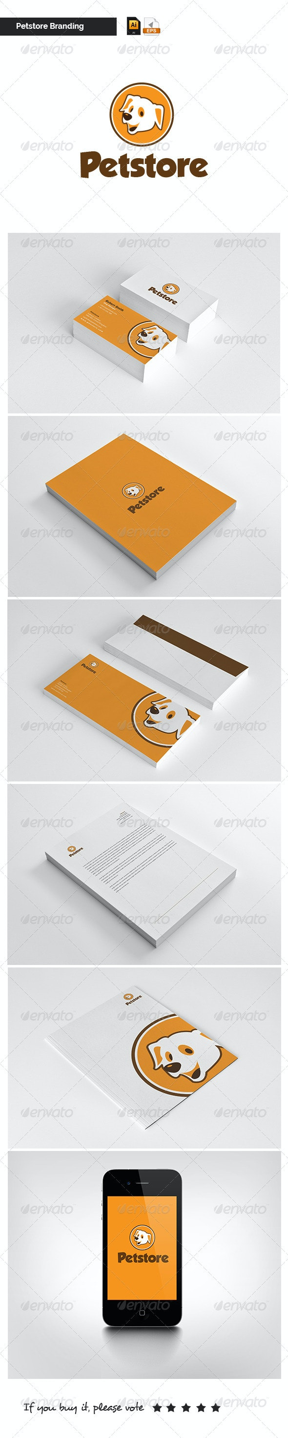 Modern Stationary - Petstore - Stationery Print Templates