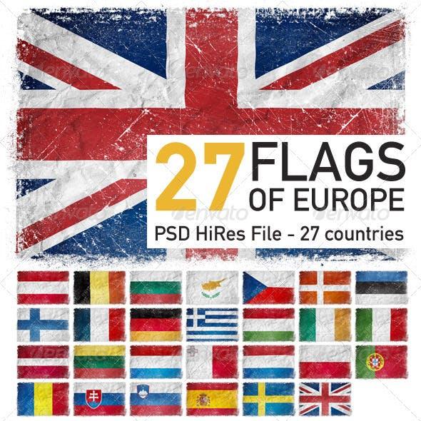 European Union Flags (27 countries)