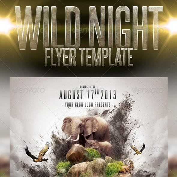 Wild Night Flyer Template
