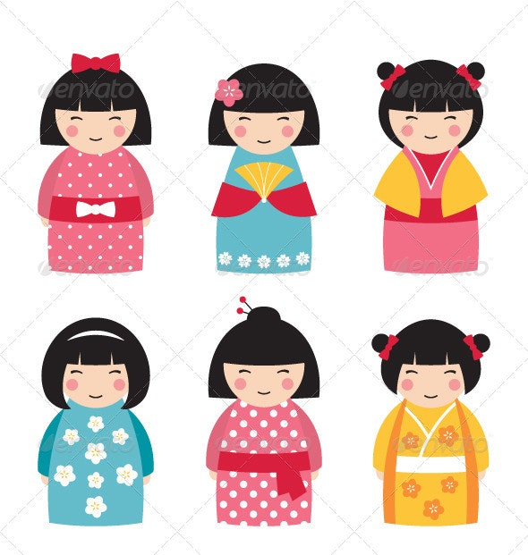 Dolls in Japanese Style