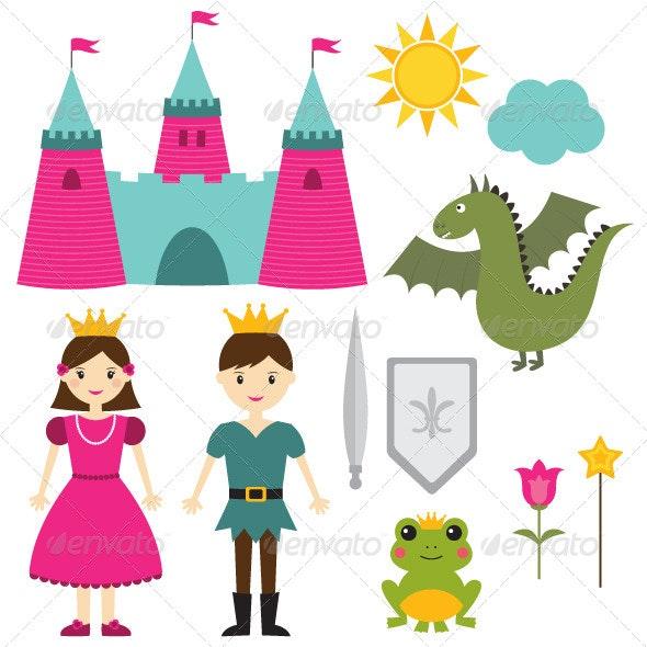 Princess and Prince Set - Characters Vectors