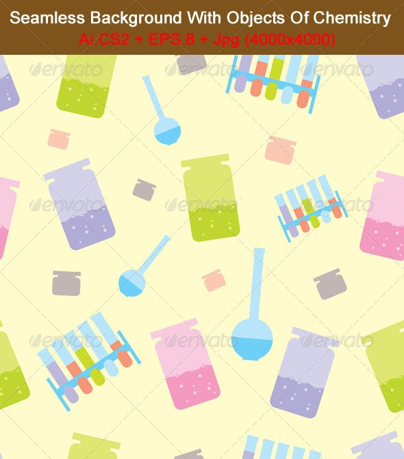 Seamless Chemistry - Backgrounds Decorative
