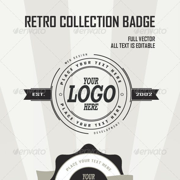 Retro Badges Collection