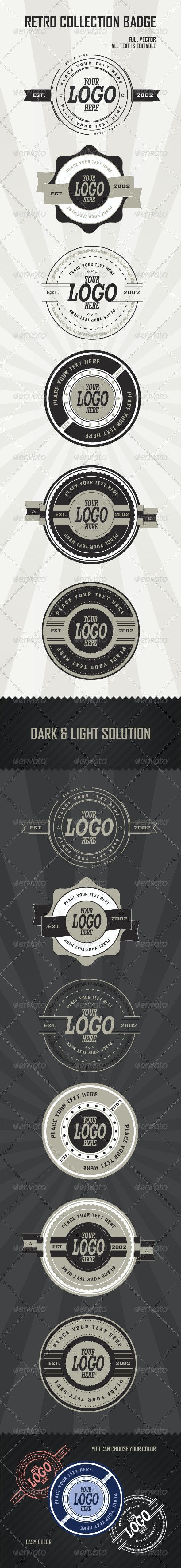 Retro Badges Collection - Badges & Stickers Web Elements