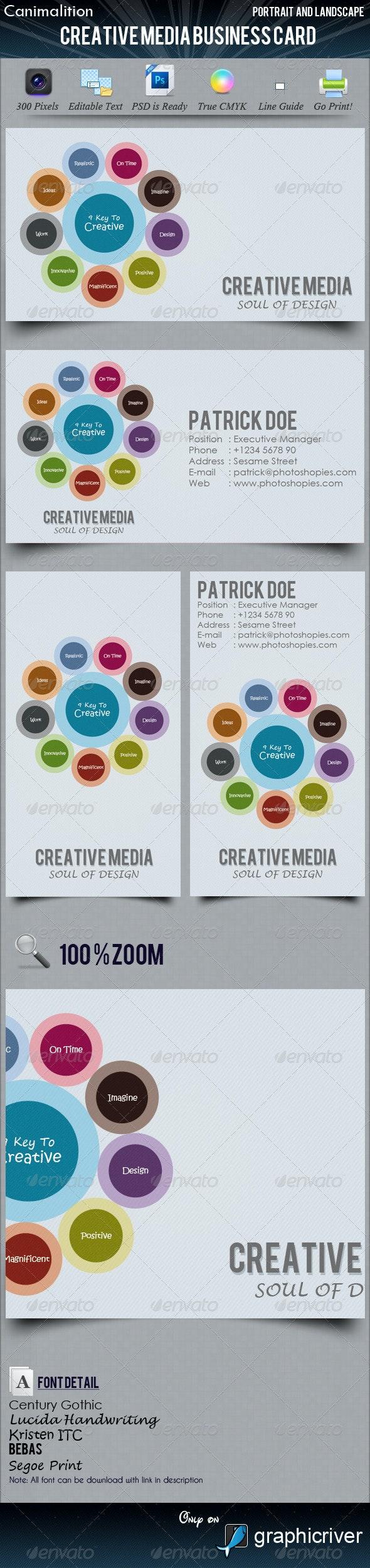 Creative Media Business Cards - Creative Business Cards