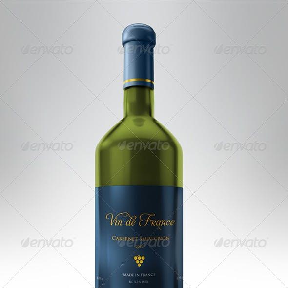 Fully Customizable Realistic Wine Bottle Mockup