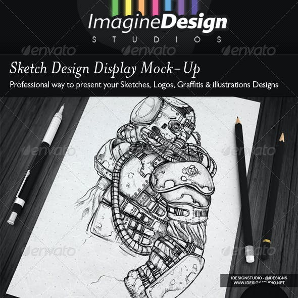 Sketch Designs Display Mock-Up