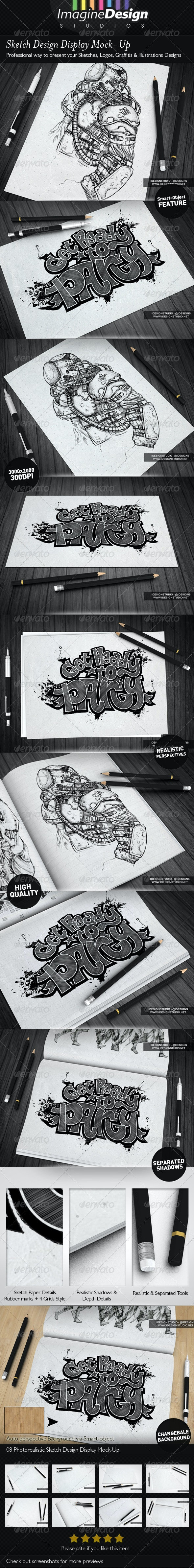 Sketch Designs Display Mock-Up - Miscellaneous Print
