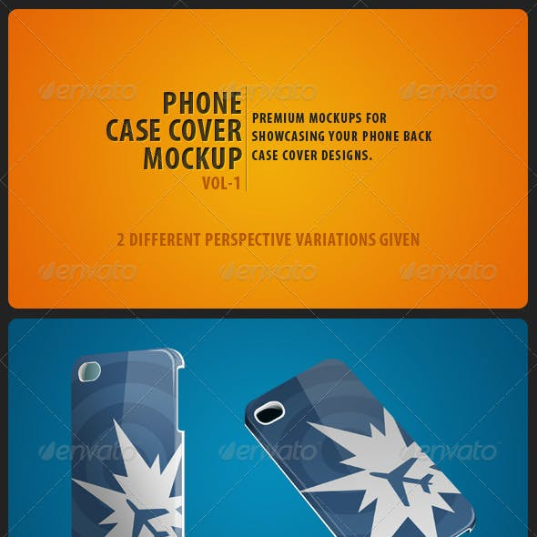 Phone Case Cover Mockup pack Vol-1
