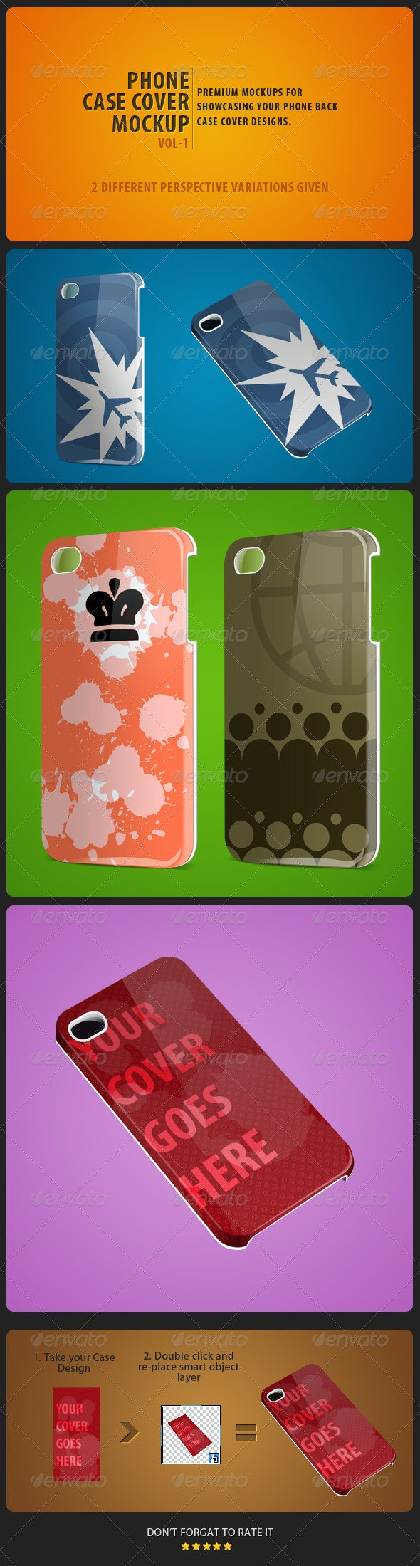 Phone Case Cover Mockup pack Vol-1 - Miscellaneous Apparel