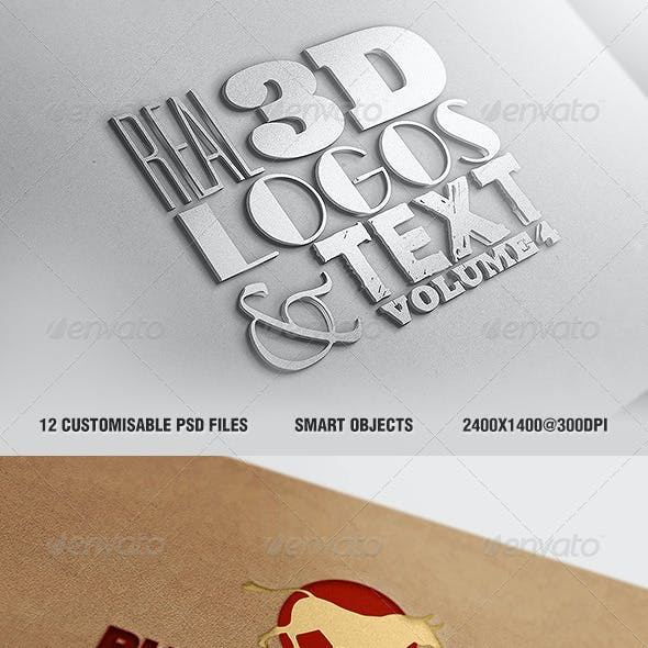 Real 3D Logos and Text - Vol4