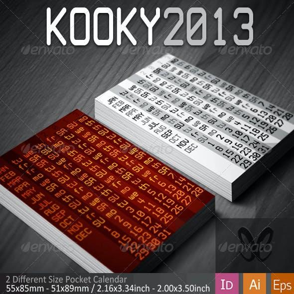 Kooky&Classic Pocket Calendar 2013