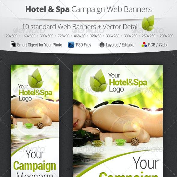 Hotel & Spa Campaign Web Banners