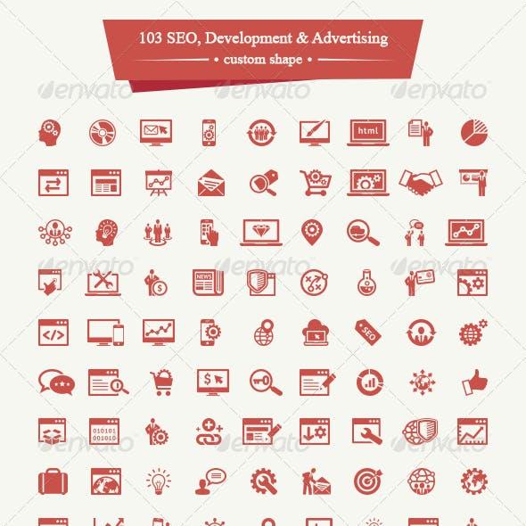 103 SEO, Development and Advertising Custom Shape