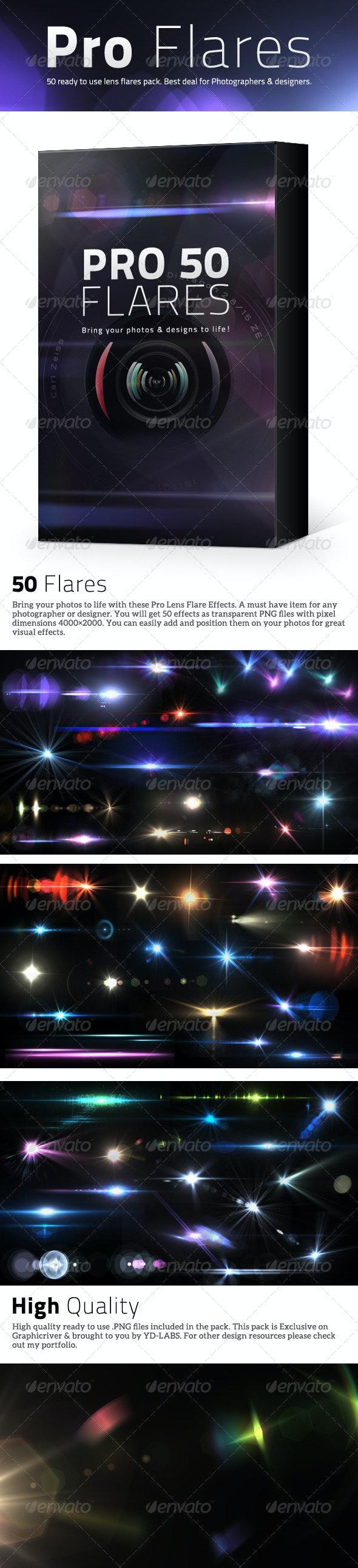 50 Pro Lens Flares V2 - Decorative Graphics
