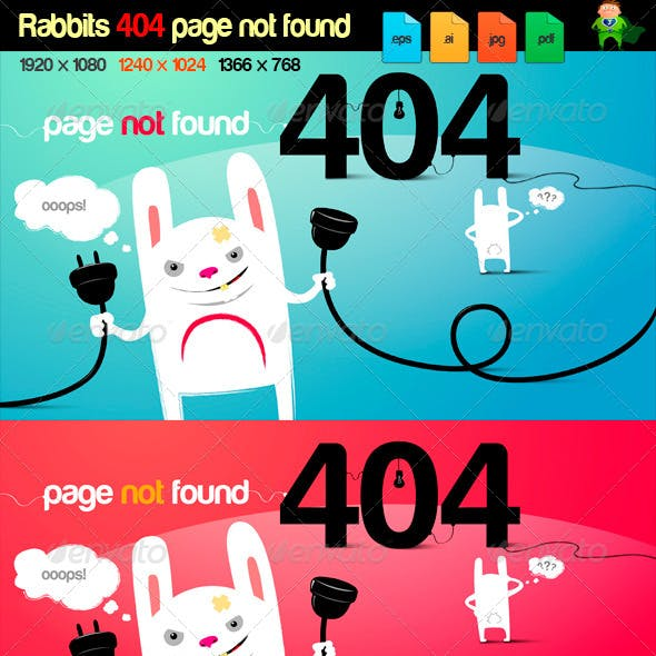 rabbits 404 page error