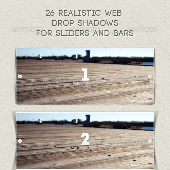Realistic Clean Web Shadows Set