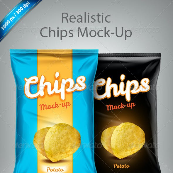 Premium And Standard Food Bag Mock-Ups