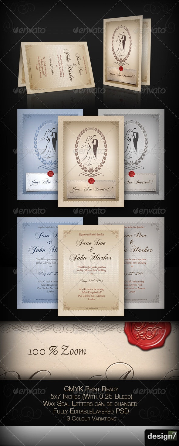 Wedding Invitation Card Template - Weddings Cards & Invites