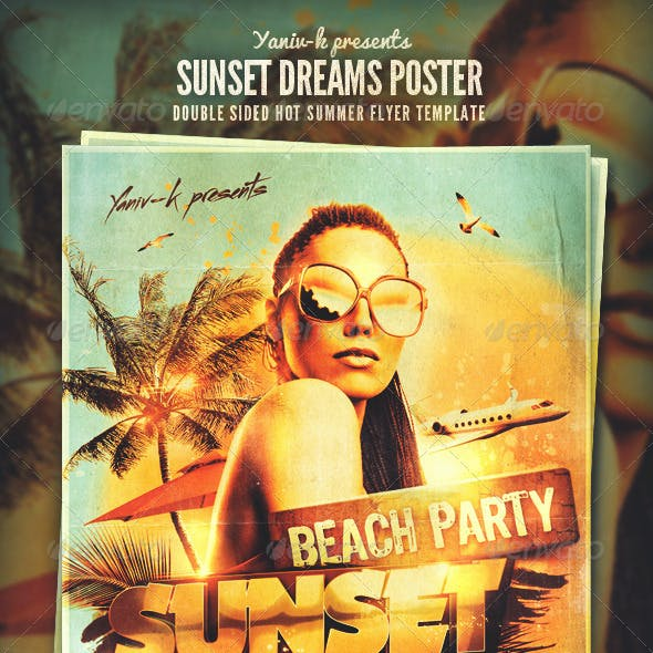 Sunset Dreams Flyer Template