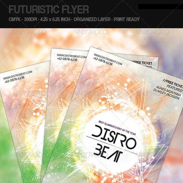 Futuristic Flyer - Distro Beat