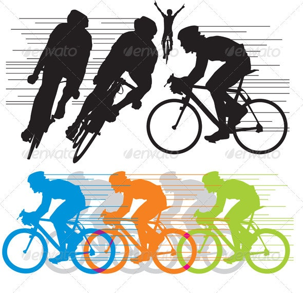 Silhouettes cyclist - People Characters