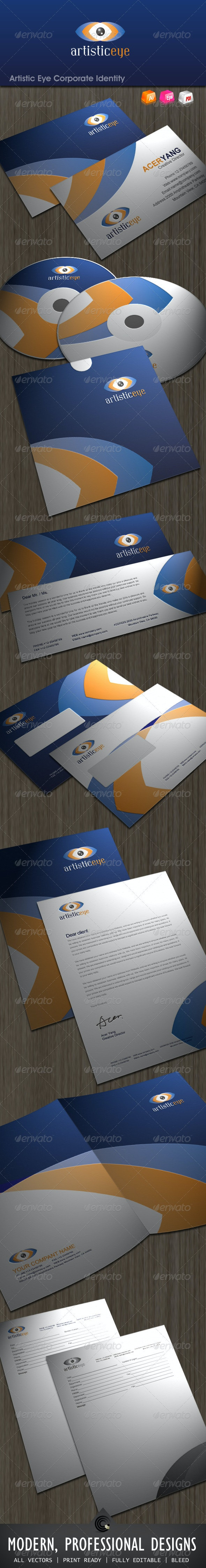 Artistic Eye Corporate Identity Package - Stationery Print Templates