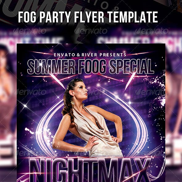 Summer Fog Party Flyer Template