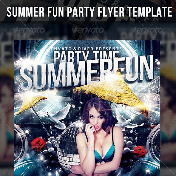Summer Fun Party Flyer Template